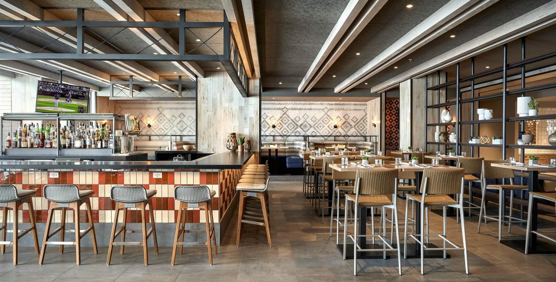 ALBACA interior bar in dining room